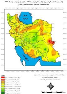 وضعیت خشکسالی ایران