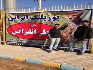 پاپا بستنی در حمایت از یوزپلنگ ایرانی
